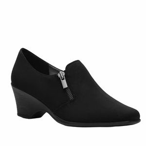 Coach and Four Black Zip Up Nylon Ankle Booties